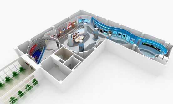 成果展厅设计效果图